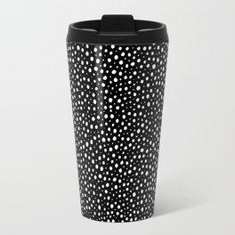 Polka dots. Black. Handmade. Ink-pen Travel Mug