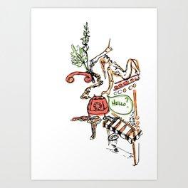 9-11, Mr. Lonely Art Print