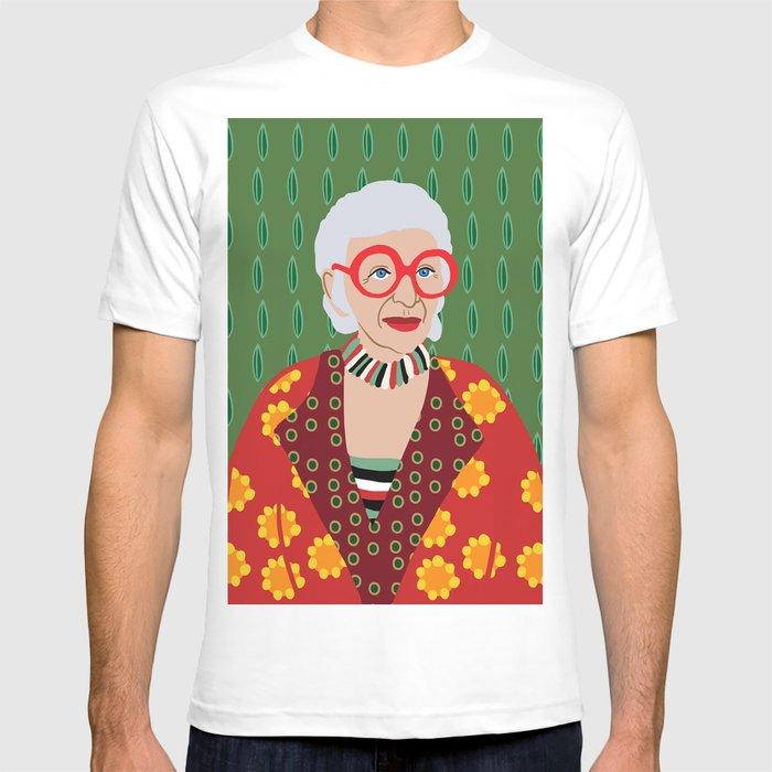 2f738c097 Iris Apfel T-shirt by nicolewilson | Society6