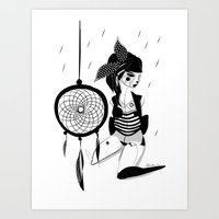 Still here - Emilie Record Art Print