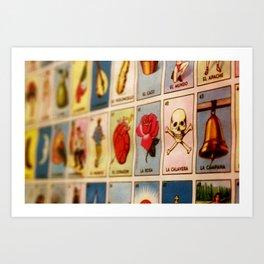 Lotería Art Print
