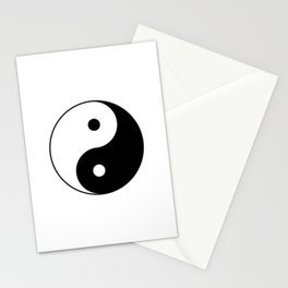 Yin Yang Taijitu Symbol Stationery Cards