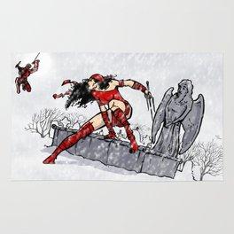 Elektra and Daredevil Rug