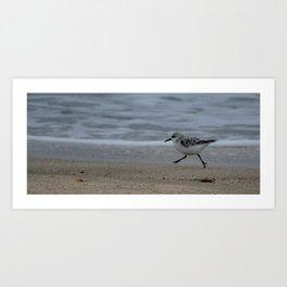 Beach Runner Art Print