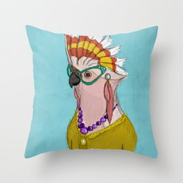 Sophisticated Bird Print Throw Pillow