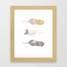 Multi Colored Feather Art Framed Art Print