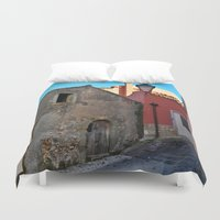 godfather Duvet Covers featuring Sicilian Medieval Village (The Godfather/ Francis Ford Coppola/1971) by CAPTAINSILVA