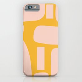 Retro Stones Mustard Yellow and Millennial Pink Abstract  iPhone Case