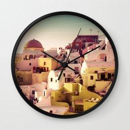 Oia Sunset #2 Wall Clock