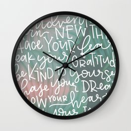trust your journey Wall Clock
