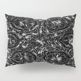 Black and white astral paint 5020 Pillow Sham