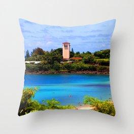 Beautiful Waimea Bay Throw Pillow