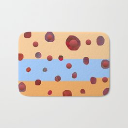 Red meteorites Bath Mat