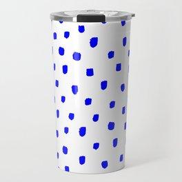 DOTTY BLUE - Monet Blue - Minimal Decor - Furniture Travel Mug