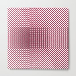 Hippie Pink and White Polka Dots Metal Print