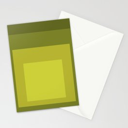 Block Colors - Yellow Green Stationery Cards