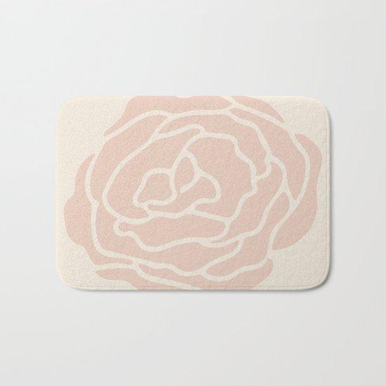 Rose Vintage Pink on Petal Cream Bath Mat