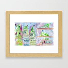 LIBERTY UPSKIRTS Framed Art Print