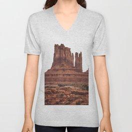 Monument Valley, Burnt Orange, Boho Decor, Desert Decor Unisex V-Neck