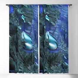 Shiny blue pebbles Blackout Curtain