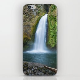 Wahclella Falls in the Columbia River Gorge, Oregon - Taken Same Day the Eagle Creek Fire Started iPhone Skin