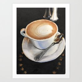 Latte Leisure Art Print