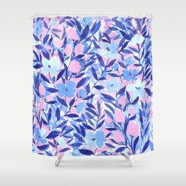 Nonchalant Blue Shower Curtain