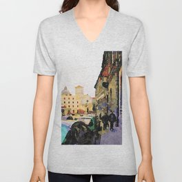 Catanzaro: course with cathedral Unisex V-Neck
