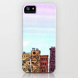 New York Purple Sky iPhone Case