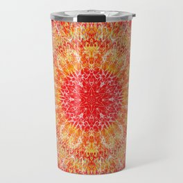 Flaming Star Mandala Travel Mug