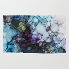 Dusk Alcohol Ink Painting Rug