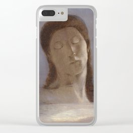 Closed Eyes by Odilon Redon, 1890 Clear iPhone Case