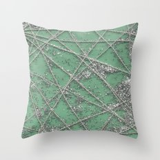 Sparkle Net Mint Throw Pillow