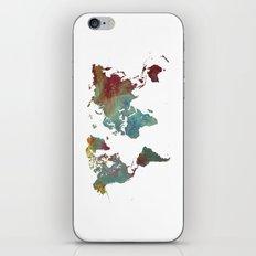 World Map After dark iPhone & iPod Skin