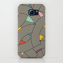 Modern Scandinavian Multi Colour Color Curve Graphic iPhone Case