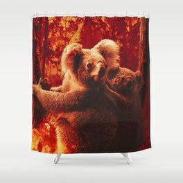Save The Koalas Shower Curtain