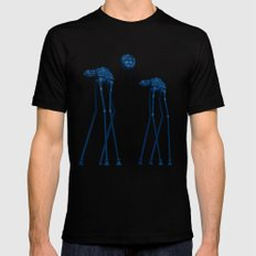Dali's Mechanical Elephants - Blue Sky MEDIUM Mens Fitted Tee Black