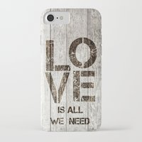 all you need is love iPhone & iPod Cases featuring Love is all you need by LebensART