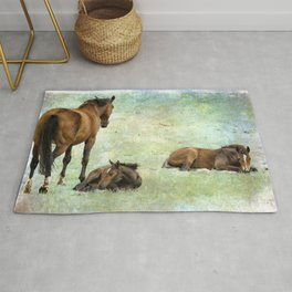 Mare and Two Foals Rug