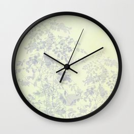 Morning in the garden Wall Clock