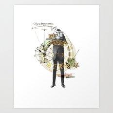 Mr. Camera Man Art Print