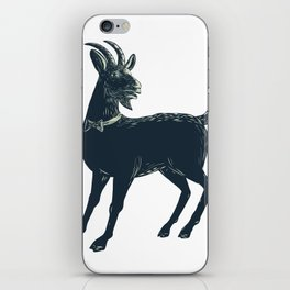 The Goat Wearing Bow Tie Scratchboard iPhone Skin