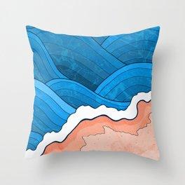 Seaside Beach Throw Pillow