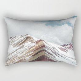 Snow-capped Rainbow Mountain (Montaña de Siete Colores) in the Andes mountains, Peru Rectangular Pillow