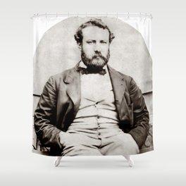 Vintage Jules Verne Portrait Photograph Shower Curtain