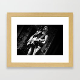 Chris Kerba - Lead Guitar & Vocals Framed Art Print