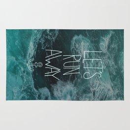 Let's Run Away - Ocean Waves Rug