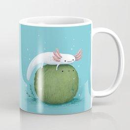 Axolotl on a Mossball Coffee Mug