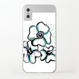 Hibiscus Clear iPhone Case