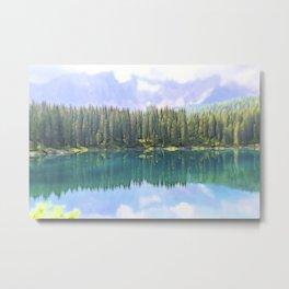landscape blue lake in the mountain Metal Print